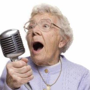 Default old lady singing