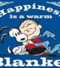Default happiness is a warm blanket charlie brown