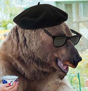 Snooty artist bear avi