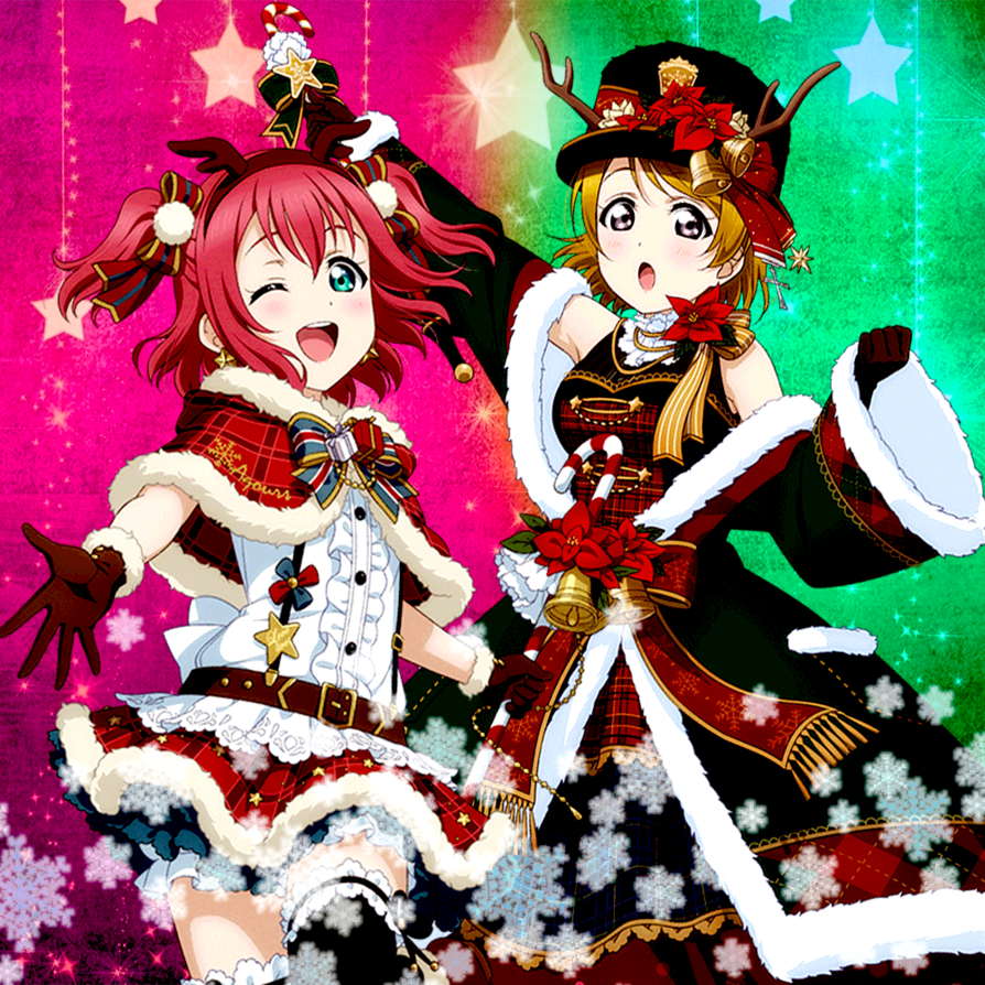 Ruby and hanayo  christmas  by remchi301 dasxxm4