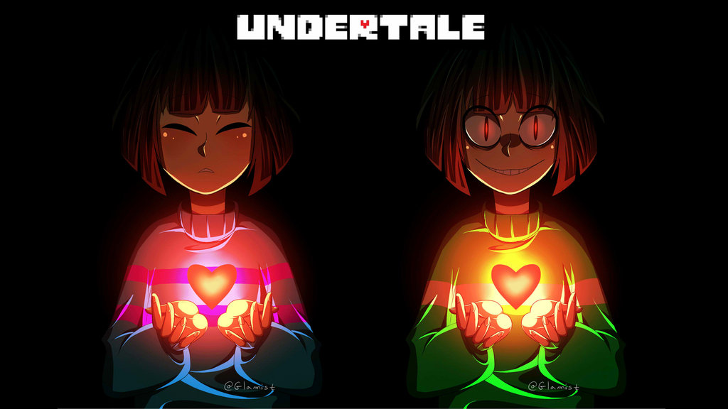 Frisk and chara  wallpaper  by glamist d9tteej