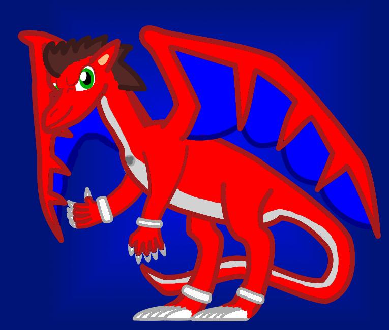 Sarius trusdale as a dragon new art