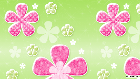 1189 pink and green flowers psp wallpaper