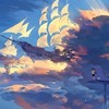 Thumb hanyijie sky scenery ship anime art 104162 1920x1080