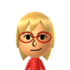 Thumb chosen mii face