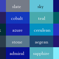 Default color thesaurus correct names blue shades