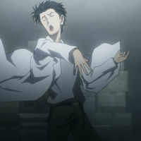 Default steinsgate 24 hououin kyouma okabe mad scientist pose