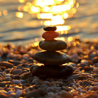 Default zen stones sunset wallpaper 10895597