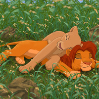 Default simba and nala snoozing by dukacia
